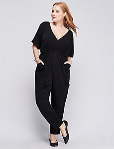 Ruched-Waist Jumpsuit