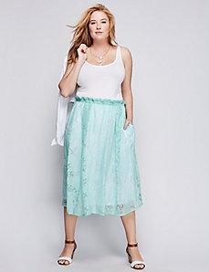 Burnout Crinkle Circle Skirt