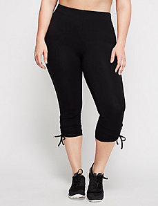 Signature Stretch Active Capri Legging with Ruched Hem