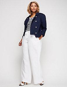 White Wide Leg Linen Pant
