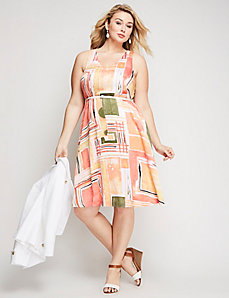 Fit & Flare Sleeveless Dress