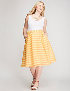 Bright Stripe Circle Skirt