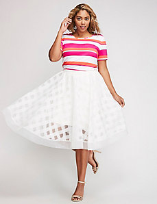 Cropped Stripe Tee by Christian Siriano