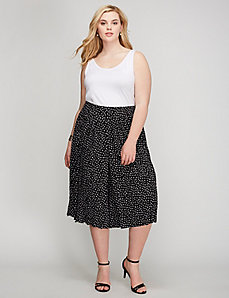 Pleated-Front Culotte