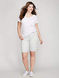 Railroad Stripe Denim Bermuda Short