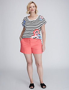 Stripes and Floral Graphic Tee