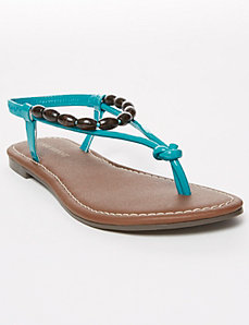 Flat Sandal with Beads