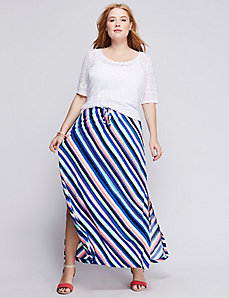 Simply Chic Tie-Front Maxi Skirt