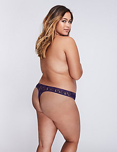 Allover Lace Thong Panty