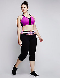 Mesh Unlined Convertible No-Wire Sport Bra
