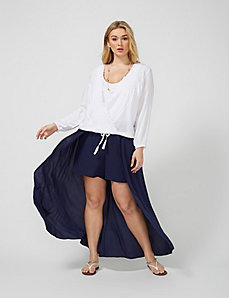 Shorts with split maxi