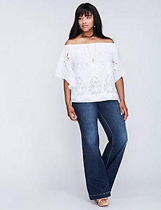 Crochet Off-the-Shoulder Top