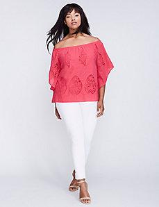 Crochet Off-the-Shoulder Top