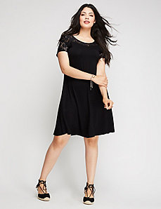 Lace Illusion Swing Dress