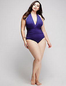 Dip-Back Swim One Piece by Badgley Mischka