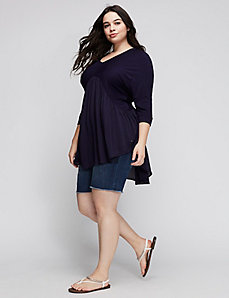 Dolman Peplum Top by Melissa McCarthy for Seven7