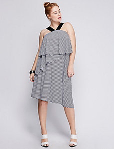 Tiered Striped Dress