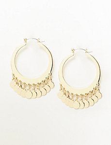 Hoop Earrings with Discs