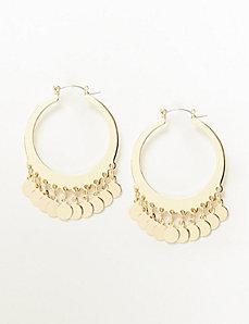 Hoop Earrings with Discs