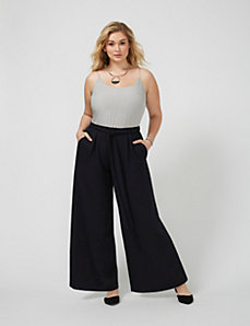 Wide-Leg Colorblock Jumpsuit