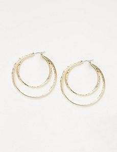 Textured Multi-Hoop Earrings