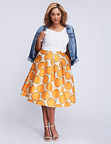 Box Pleated Circle Skirt
