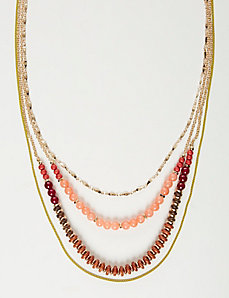 4-Layer Beaded Necklace