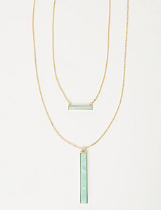 2-Layer Double Bar Necklace