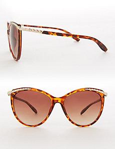 Studded Tortoiseshell Sunglasses