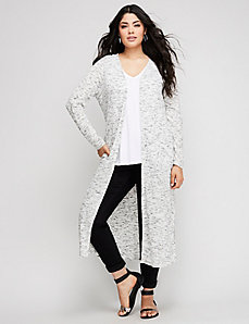 Ribbed Marled Duster