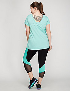 Crisscross-Back Active Tee by Jessica Simpson