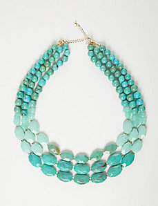 3-Layer Turquoise Beaded Necklace