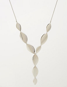 Curved Plating Y Necklace