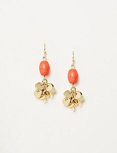 Stone & Disc Cluster Drop Earrings
