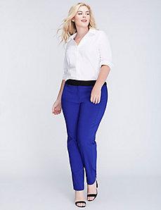 Lena Sexy Stretch Tuxedo Stripe Ankle Pant