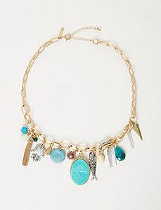 Multi-Media Charm Necklace