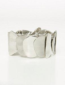 Curved Plating Stretch Bracelet
