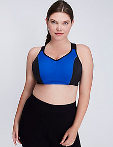 Molded Sport Bra with Triple Back Straps
