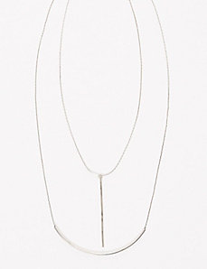 2-Layer Linear Pendant Necklace