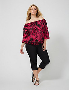Off-the-Shoulder 3/4-Sleeve Top