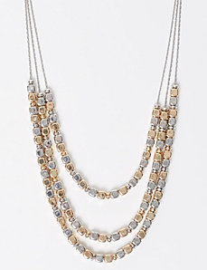 3-Layer Dual Tone Beaded Necklace