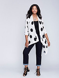 Polka Dot Drape Overpiece