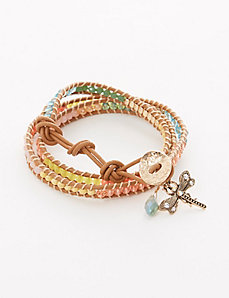 Multi-Color Beaded Wrap Bracelet