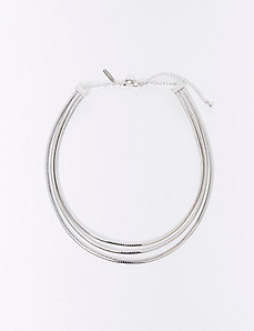 3-Chain Collar Necklace