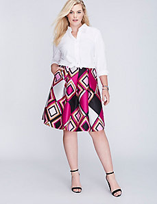 Printed Circle Skirt