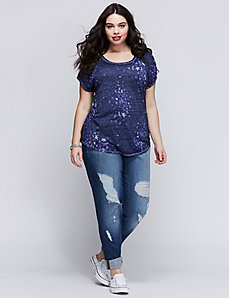 Starry Burnout Graphic Tee
