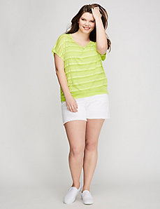 Shadow Stripe Tee with Open Back