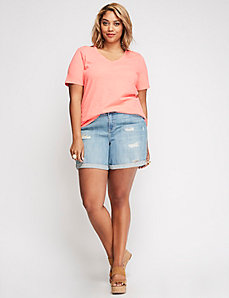 Cutout-Shoulder Tee