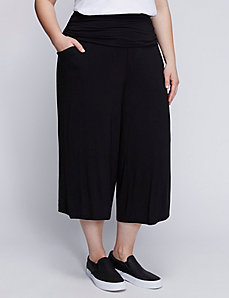 Culotte with Foldover Waistband