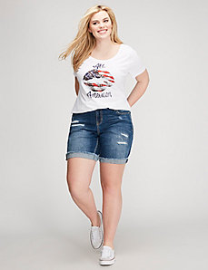 Red, White & Blue Kiss Tee